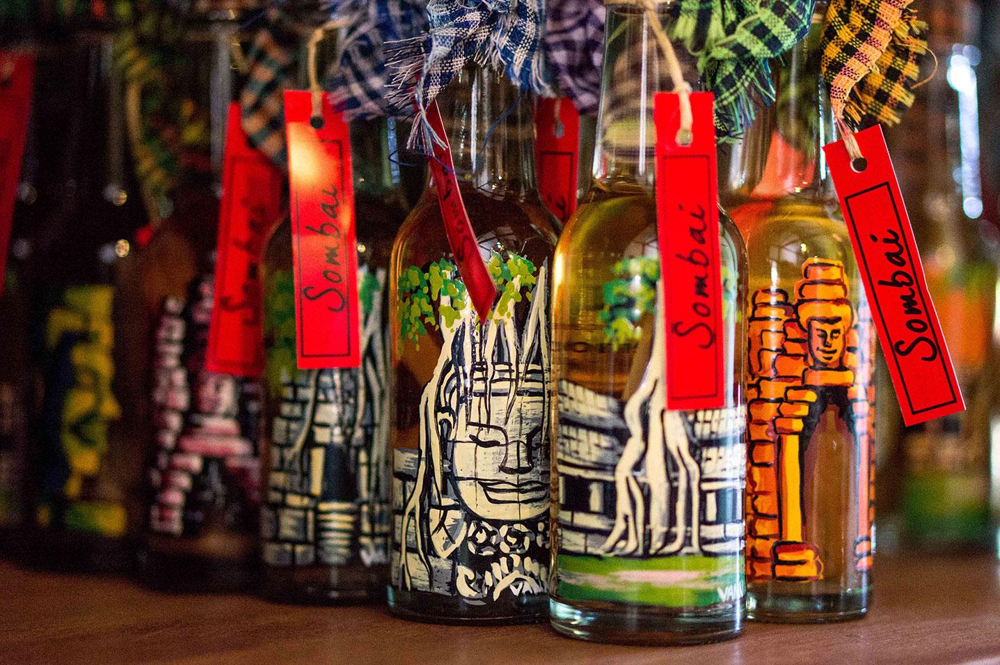 Sombai Craft Liquor Bottles Phnom Penh