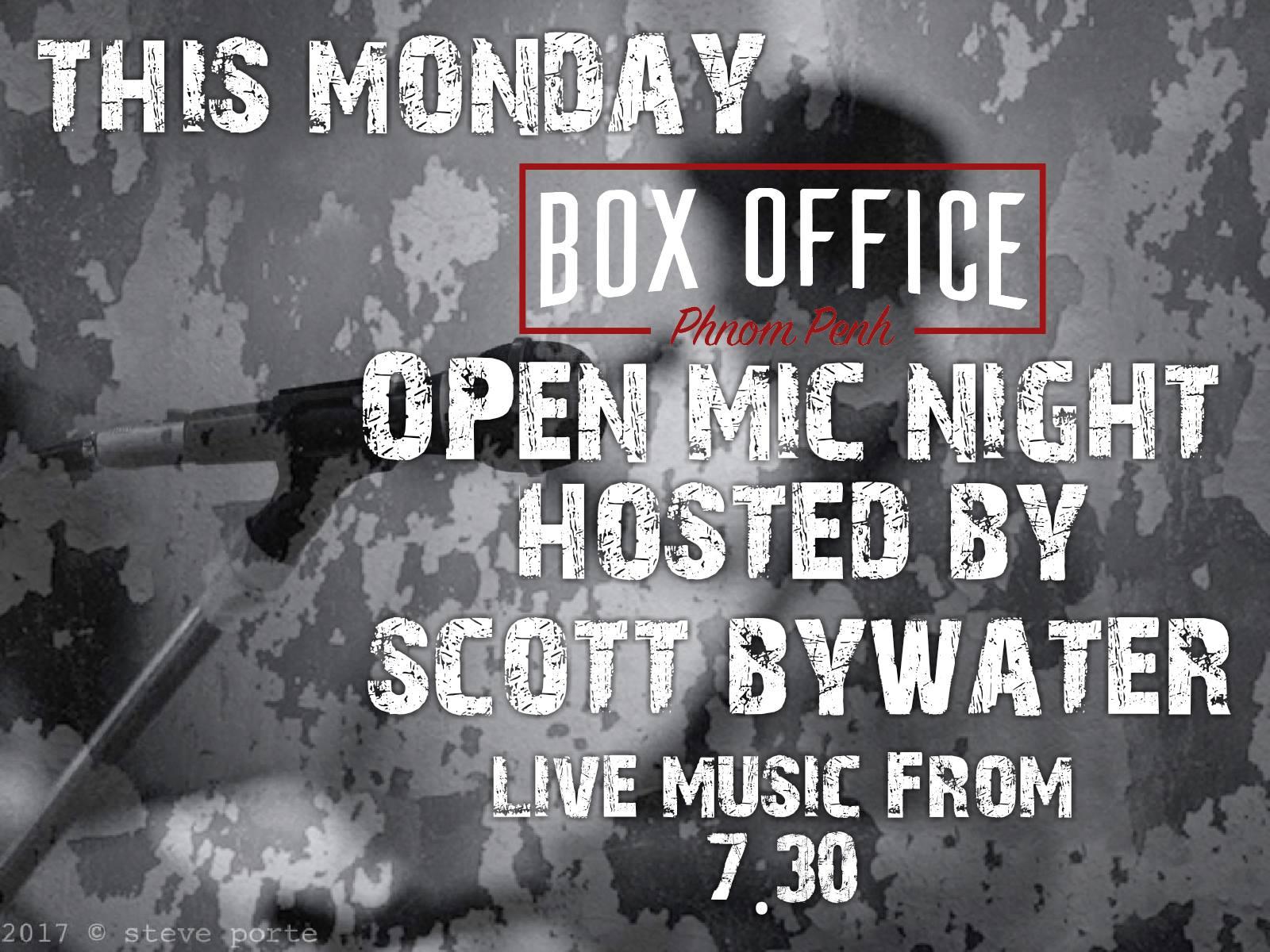 Box office open mic Phnom Penh nightlife