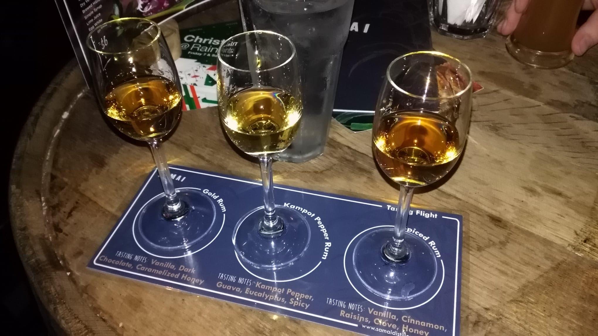 Samai Distillery Rum Flight
