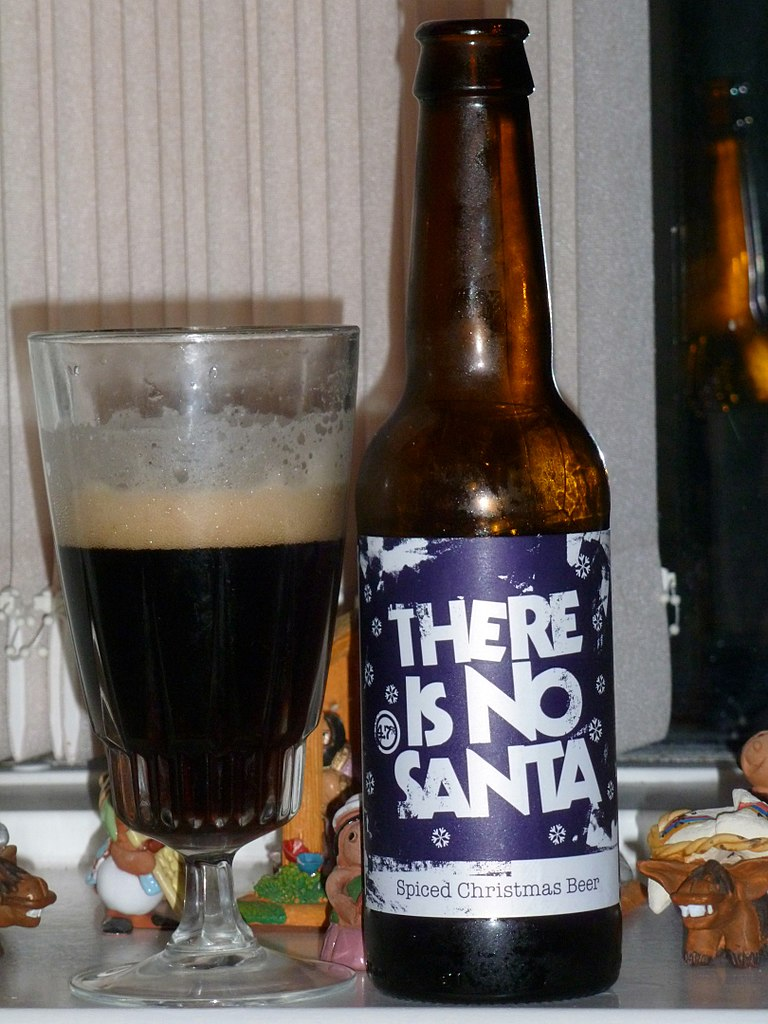 There is no santa, Christmas beer