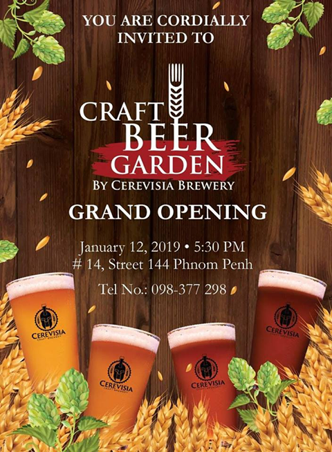 Grand Opening Craft Beer Garden by Cerevisia