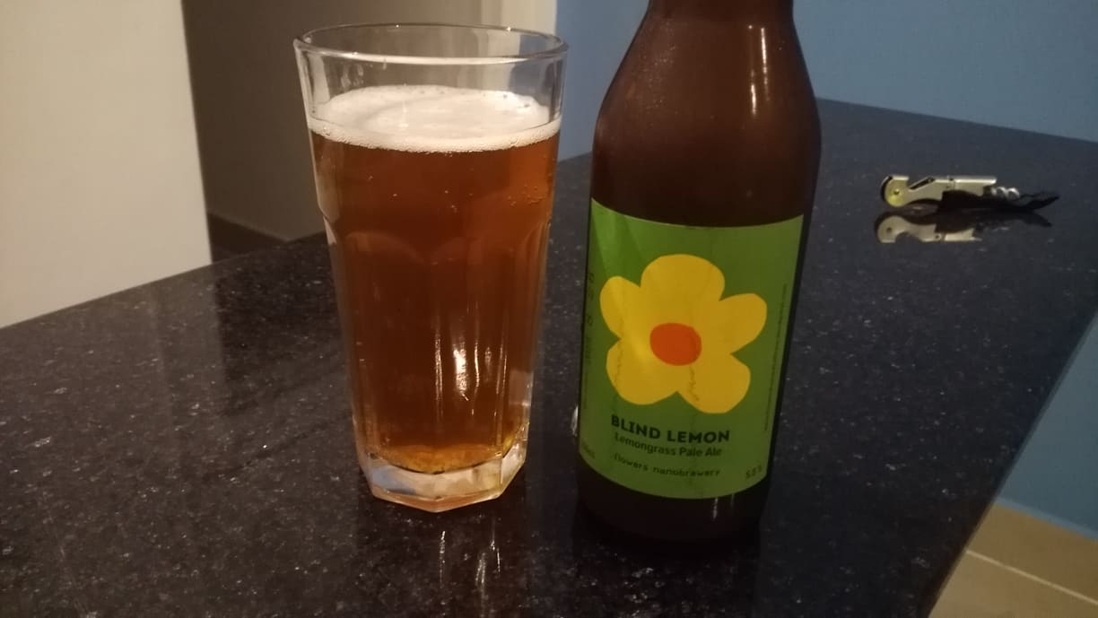 Lemongrass Pale Ale from Cambodian Craft Beer Brewer Flowers Nanobrewery