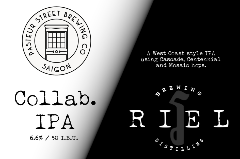 Riel Brewing Pasteur Street Collab IPA